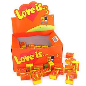 "Жувальна гумка ананас-апельсин ""LOVE IS..."" любов це... блок 100шт"