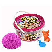 Кинетический песок Strateg Magic sand, розового цвета с ароматом клубники, ведро 350 г SKL11-237253