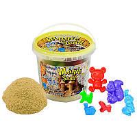 Кинетический песок Strateg Magic sand, светится в темноте, классический, ведро 1 кг SKL11-237234