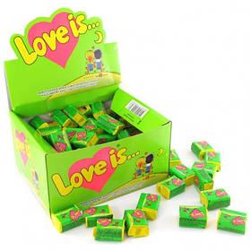 "Жувальна гумка яблуко-лимон ""LOVE IS..."" любов це... блок 100шт"