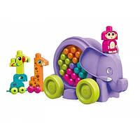 Конструктор каталка Mega Bloks - Неуклюжий фиолетовый слон (Building Basics Elephant Parade) 25 дет 1+ (FFY14)