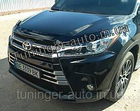 Мухобойка,дифлектор капота Toyota Highlander 2014-2018 (Sim)