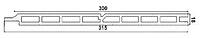 Панель фасадная Polymer & Wood Дуб