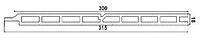 Панель фасадная Polymer & Wood Антрацит