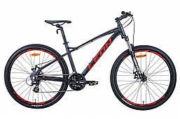 """Велосипед 27.5"""" Leon XC-90 2020 (графитовый с красным (м))"""