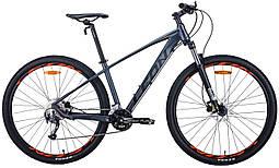 """Велосипед 29"""" Leon TN-70 2020 (графитовый с черным и оранжевым (м))"""