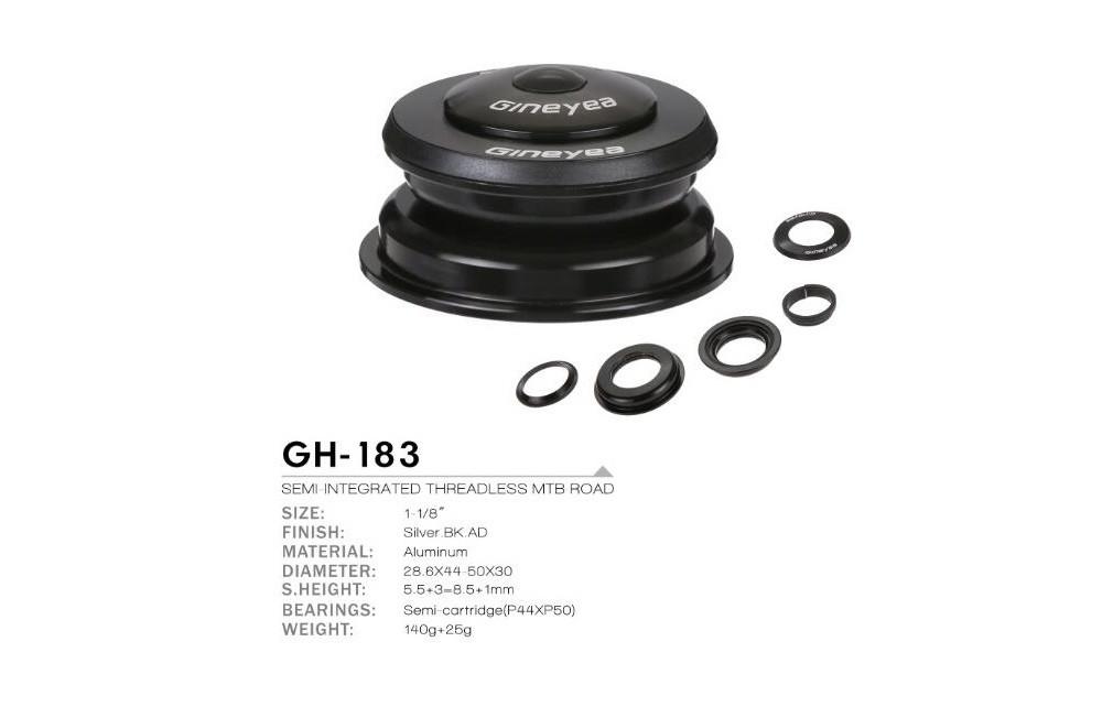 "Рулевая колонка St + AL 1,5-1,1/8"" п/интегр.конус GINEYEA GH-183 44/49,7"