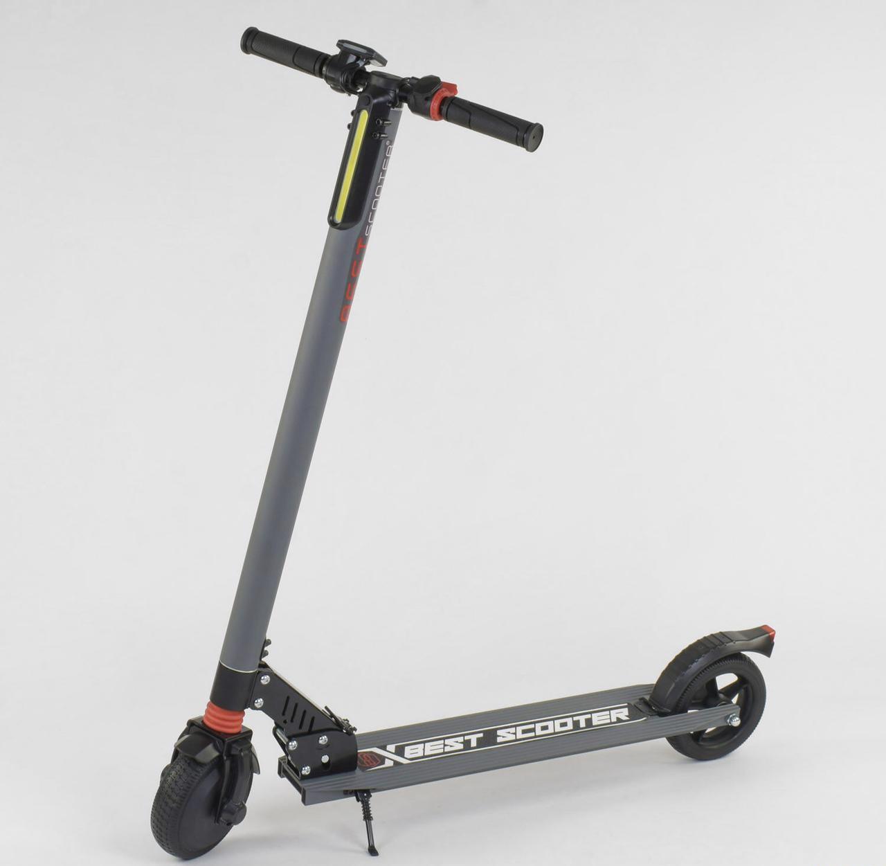 Електросамокат 83325 Best Scooter колеса 6,5 колір Сірий