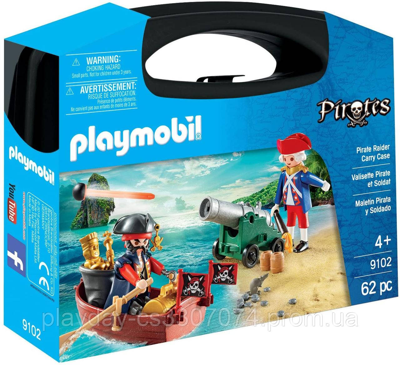 Игровой набор пират на лодке  Playmobil Pirate Raider carry case
