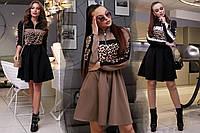 Женское свободное платье с завышенной талией /разные цвета, S-XL, SEV-1316.3975/