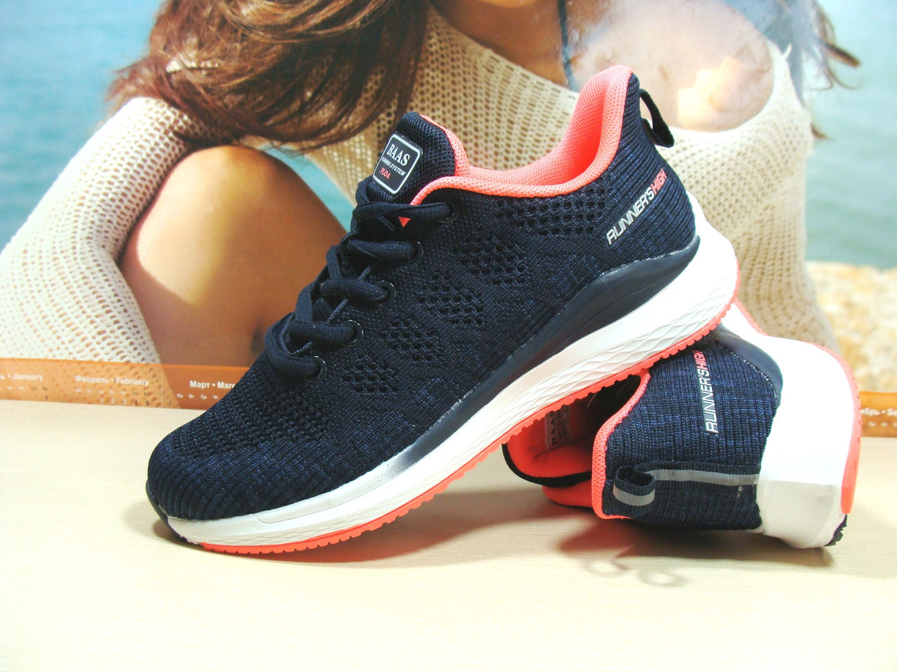 Кроссовки женские BaaS Runners синие 37 р.
