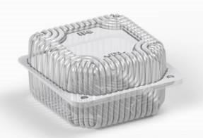 Коробка пластиковая 500 мл IT-8 (В / Р 9,5 * 9,5см, З / Р 10,7 * 10,7см, высота 3,5 * 2,7 = 6,2см) 800шт. / Ящ