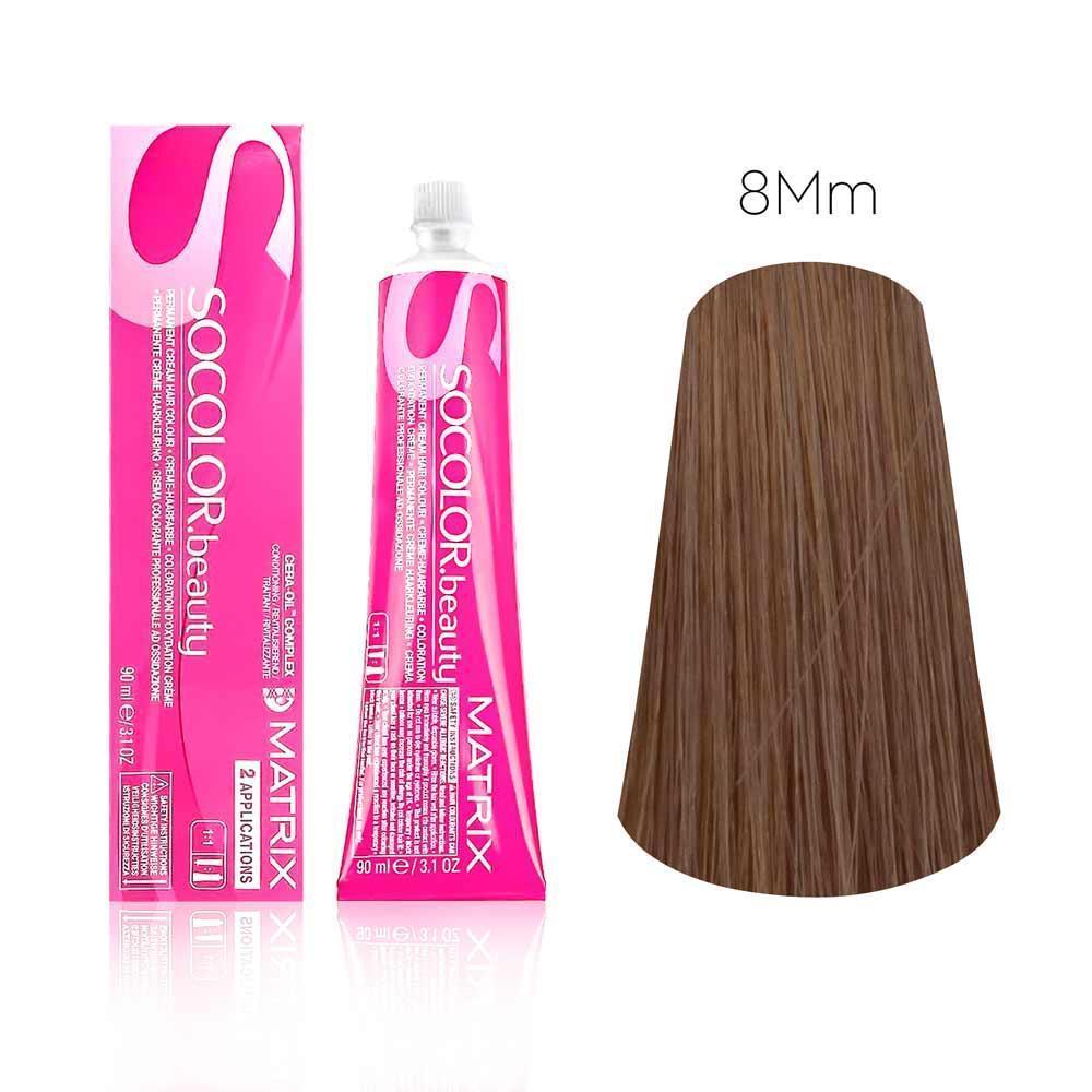 Стойкая краска для волос Matrix SOCOLOR.beauty 8MM Светлый блондин мокка мокка, Matrix Professional  - купить со скидкой