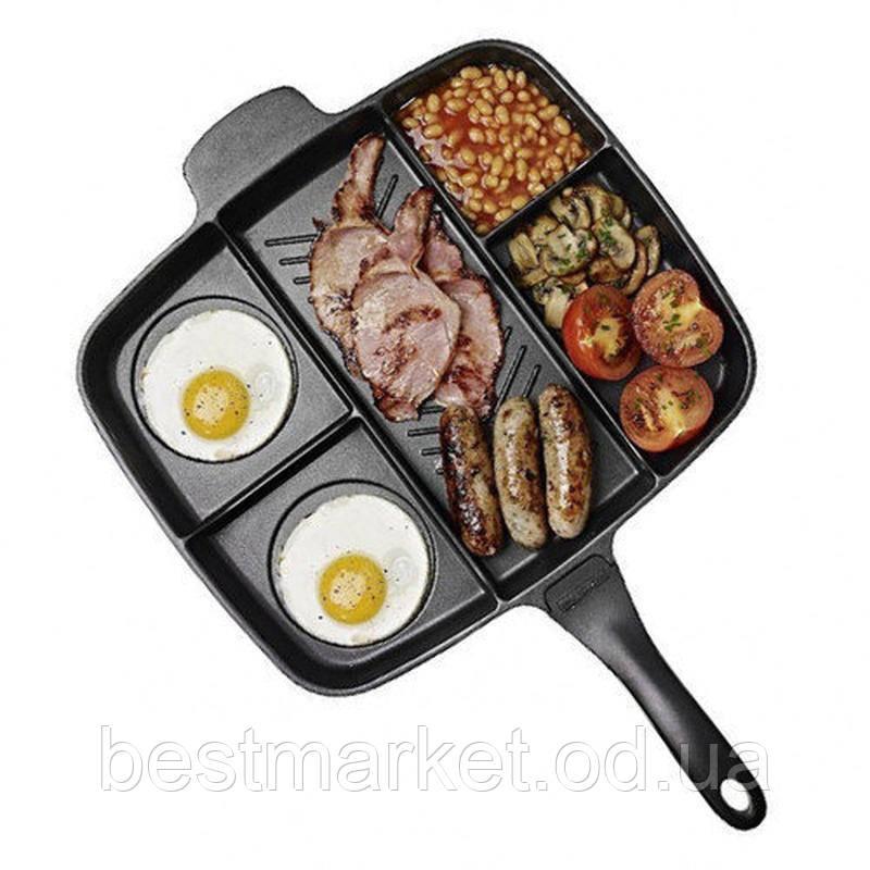 Сковорода Универсальная с Антипригарным Покрытием Magic Pan 5 в 1