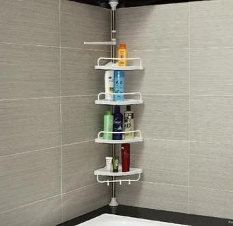 Раздвижная полка для ванной комнаты углавая Aidesen ADS-188 Multi Corner Shelf