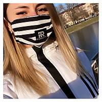 Защитная трёхслойная маска (хлопок)