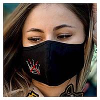 Защитная трёхслойная маска (хлопок)спанбонд