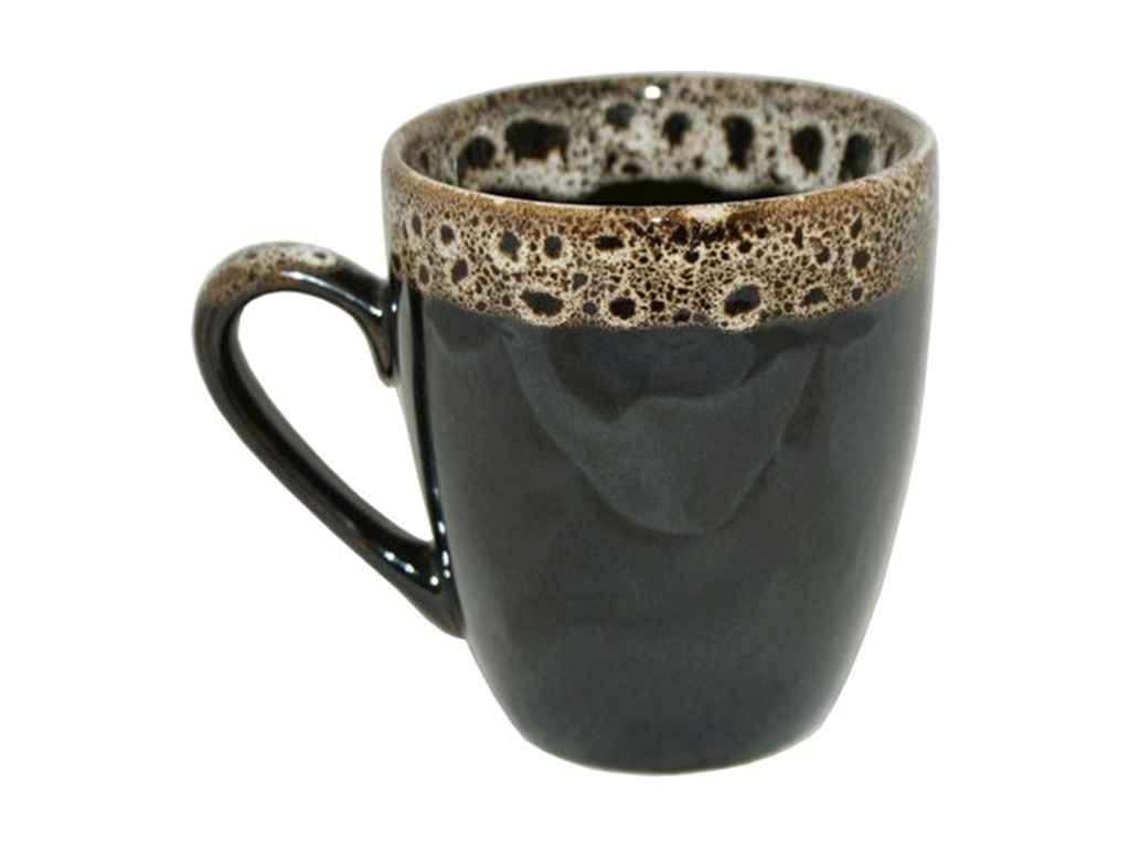 Чашка 320мл Європа пінка чорний (6шт. в уп.) ТМПОЛИГЕНЬКО