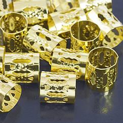 Бусины Monisto Железо Полые 9х8мм Цвет: Золото 100шт
