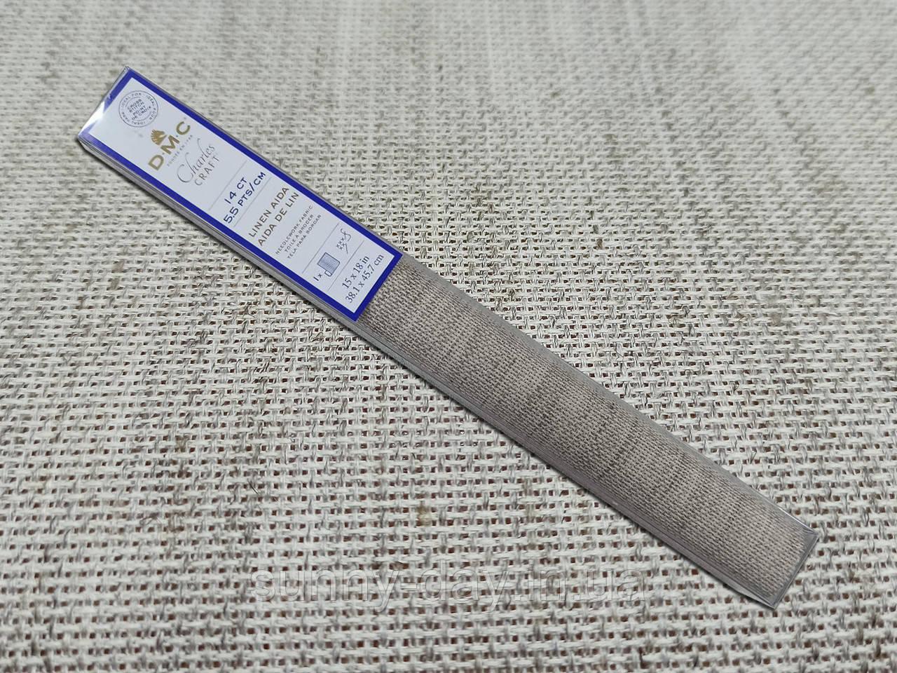 Канва для вышивки DMC ( цвет- екрю/лен), 38х45см
