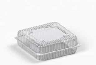 Коробка пластикова 3500 мл IT-479 (В/Р 21,5*21,5см, З/Р 23*23см, Висота 4.4*4.4=8.8см) 100 шт./ящ
