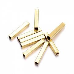 Бусины Monisto Латунь 12x2x2мм Цвет: Золото 20шт