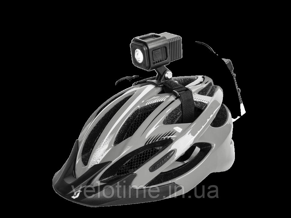 Фара на шлем диод. Topeak CubiCubi 500 (черный)