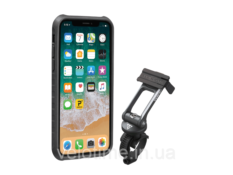 Чехол для телефона Topeak RideCase iPhone X/XS (черный-серый)