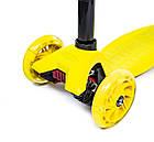 Детский самокат со светящиеся колеса MAXI Scale ScooTer Yellow, фото 2