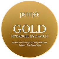 """Гидрогелевые патчи для глаз Petitfee """"Gold Hydrogel Eye Patch"""" с золотом (60 шт)"""