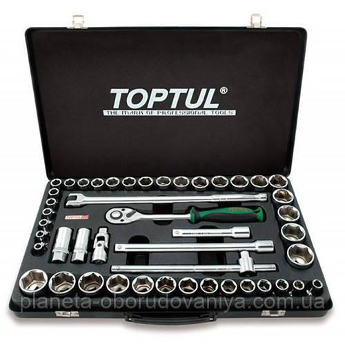 """Комбинированный набор инструментов TOPTUL 1/2"""" (дюйм+метр.) 46ед. GCAD4601"""