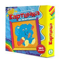 Картина из пластилина Strateg Слон на русском SKL11-237443