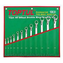 Набор ключей накидных 6-32 мм TOPTUL (угол 45°) 12ед. GAAA1202