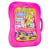 Набор для творчества Strateg Мистер тесто подарочный чемоданчик, 26 элементов, розовый SKL11-237864