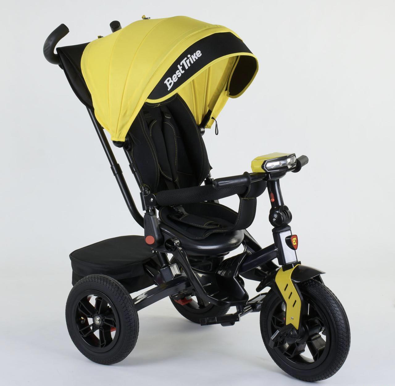 Велосипед 3-х колесный 9500 Best Trike Поворотное сидение Складной руль Рус озвучка Надувные колеса