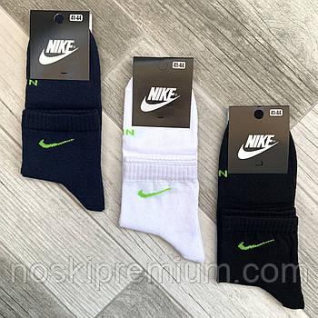 Носки мужские демисезонные х/б спортивные Nike, Athletic Sports, средние, ассорти, 11518