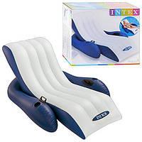 Надувное Кресло шезлонг Intex из высокопрочного винила 58868 , кресло шезлонг для плавания