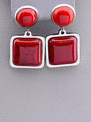 Серьги женские оригинальные Stainless Steel Коралл
