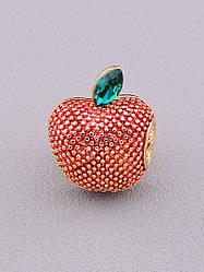 Брошь на одежду красное спелое яблоко позолота XUPING