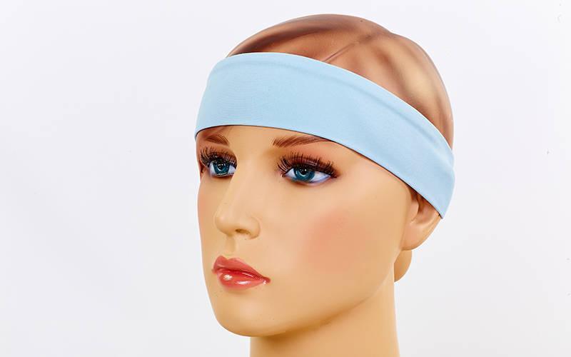 Повязка на голову Tactel Zelart (тактель, безразмерная, нте) Голубой PZ-CO-6259_1