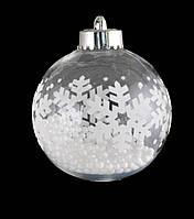 Шар на елку Снежинки с пенопластом внутри Новогодько d-8 972890