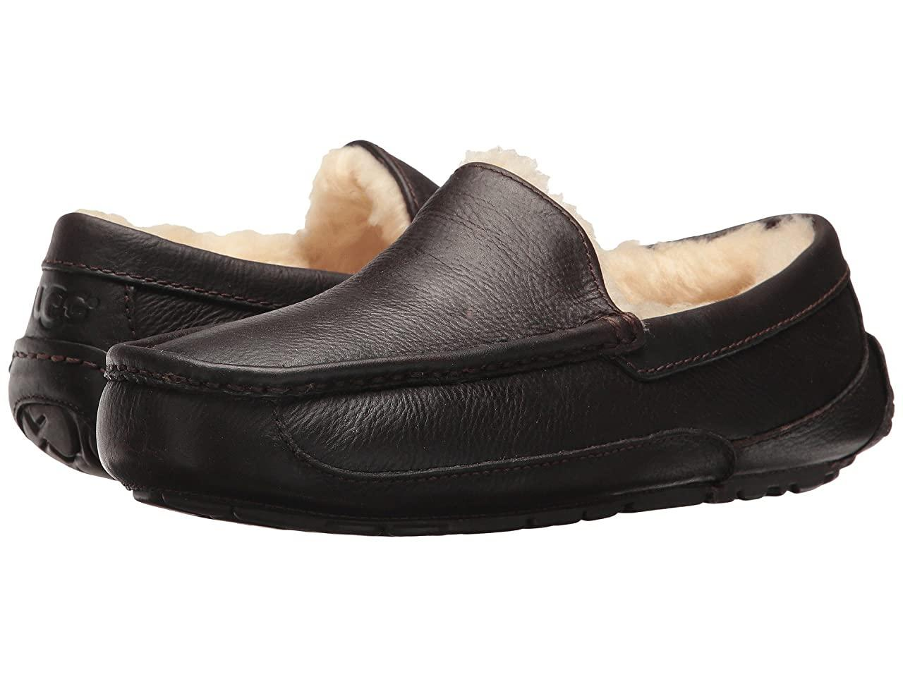 Тапочки (Оригинал) UGG Ascot Leather China Tea Leather