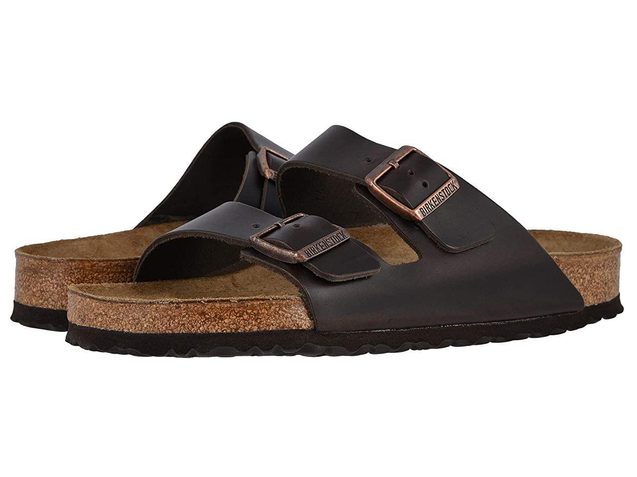 Сандали/Вьетнамки (Оригинал) Birkenstock Arizona Soft Footbed - Leather (Unisex) Brown Amalfi Leather