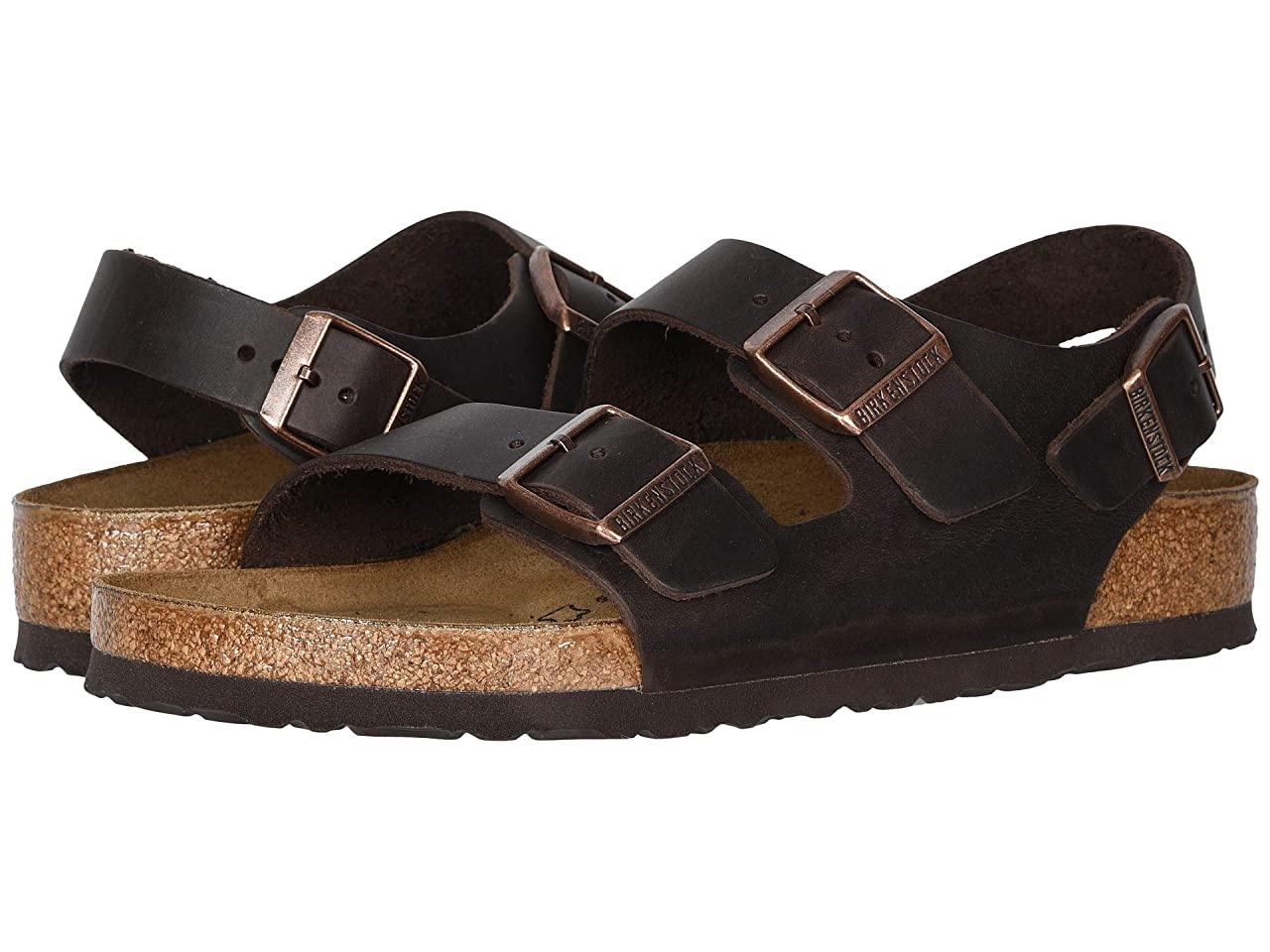 Сандали/Вьетнамки (Оригинал) Birkenstock Milano - Oiled Leather (Unisex) Habana Oiled Leather