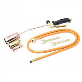 Горелка газовая кровельная с гибким шлангом 52см и насадками, набор 5 ед., F-0525GB FORSAGE