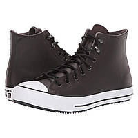 Кроссовки Converse Chuck Taylor All Star Winter Leather Boot - Hi Velvet Brown/White/Black - Оригинал