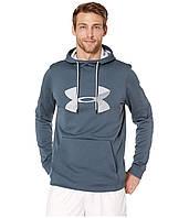 Толстовка Under Armour Armour Fleece Pullover Big Logo Graphic Wire/Mod Gray - Оригинал