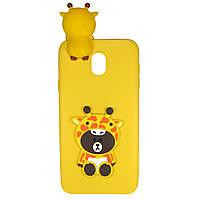 Чехол Cartoon 3D Case для Samsung J330 Galaxy J3 2017 Жирафы