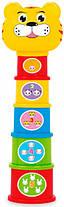Іграшка Пірамідка BeBeLino Веселий зоопарк (57022)