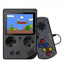 Портативная игровая ретро приставка консоль с дополнительным джойстиком dendy SEGA 8bit 400 игр SUP Game Box черная